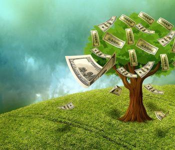 Cash geld staat voor gedrukte vrijheid