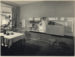 Advertentie uit het magazine DU, 1955.<br />Het moderne interieur anno 1955, licht en praktisch.