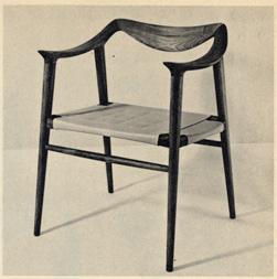 Advertentie uit het magazine DU, 1958.<br />Deze Nordic stoel is weer helemaal terug van weggeweest.<br />Op de tweede hands markt is dit een geliefd product.<br />En in Japan is er een bedrijf die deze stoel terug in productie heeft genomen, en helemaal met de hand maakt uit teak en leder voor het milde bedrag van 3.000,00€