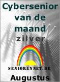 Cybersenior van de maand Augustus 2004 ZILVER op www.seniorennet.be